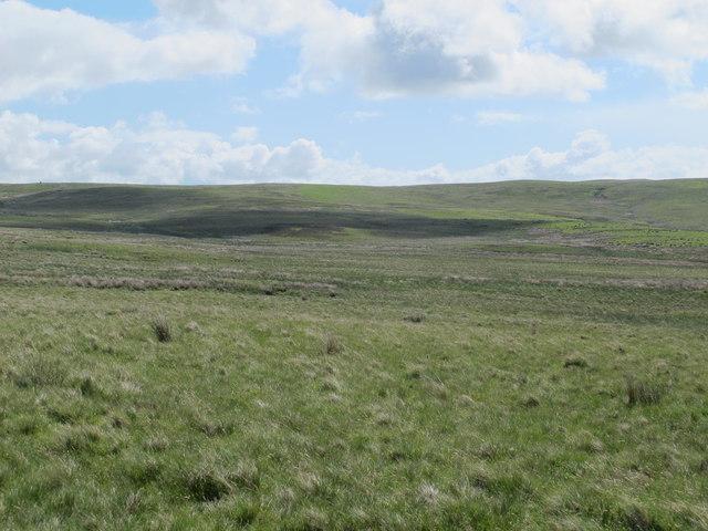 Moorland north of the Burma Road