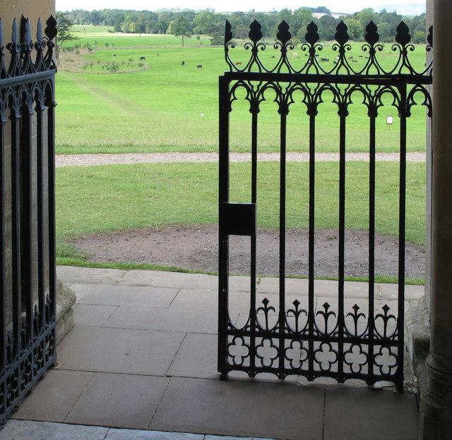 Croome Park, church gate