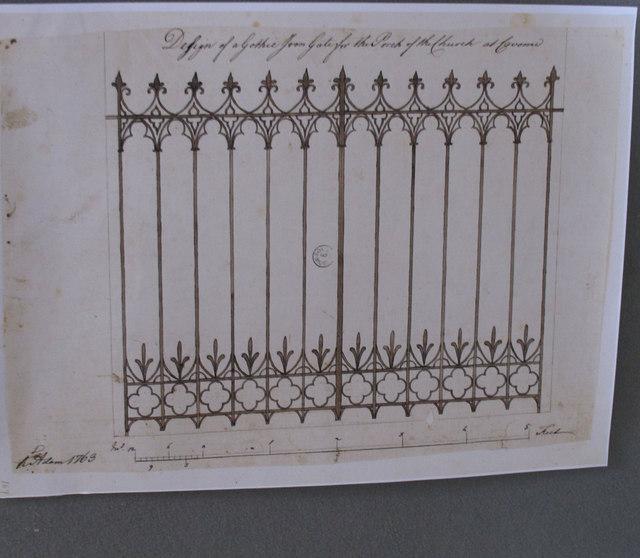 Croome Park, Robert Adam's design for church gate