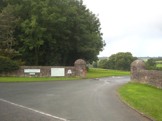 The entrance to Buckland Abbey