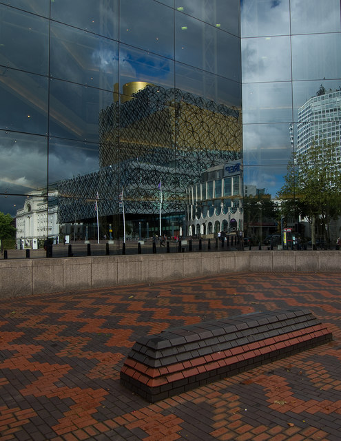 Centenary Square reflections, Birmingham