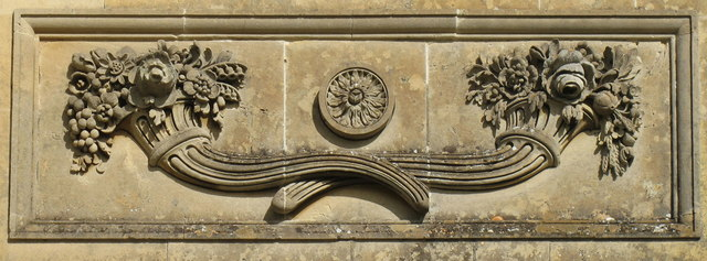 Croome Park temple greenhouse stone carving