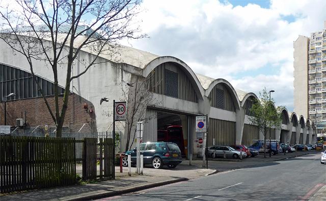 Stockwell Bus Garage, Lansdowne Way