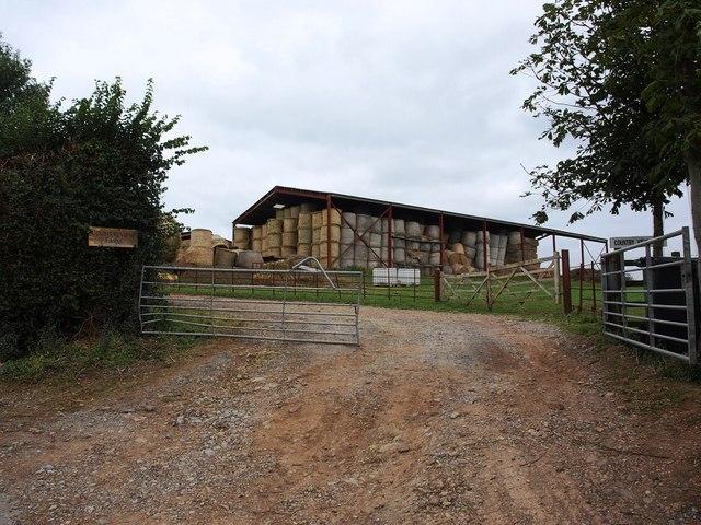 Entrance to Country View Farm, near Splatford