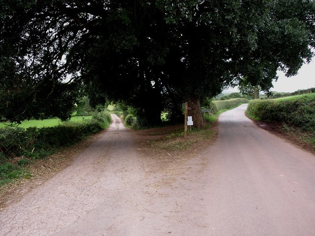 Junction of Brenton Road with lane to Willis Hill Farm, near Clapham