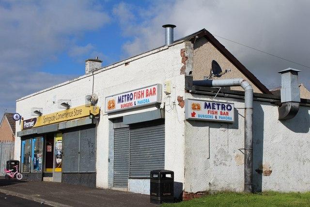 Shops on Overtoun Road, Springside