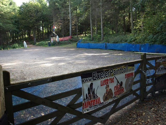 The entrance to the paintball site at Darnaford Brakes