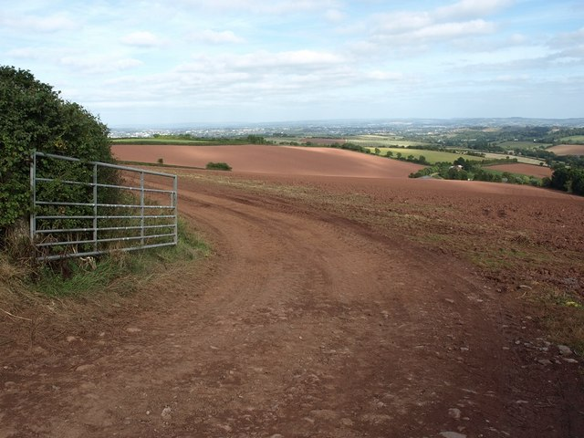 Newly ploughed fields from Idestone Cross