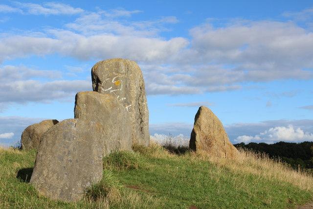 Sourlie Hill Standing Stones, Eglinton Country Park