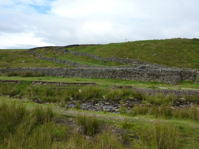 Hebden Beck, dry stone walls