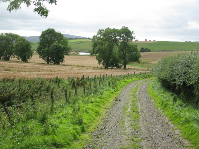 End of the Track at Townhead Farm by Libberton