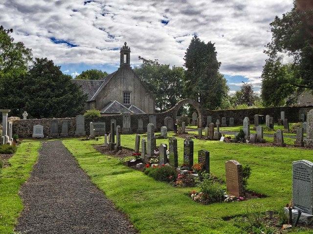 Tibbermore Graveyard and Church