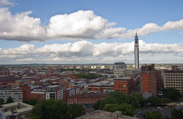 Birmingham skyline featuring BT Tower