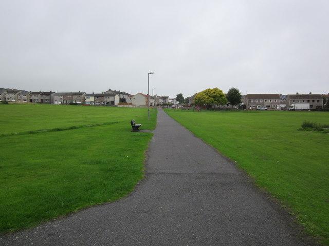 Path at King George V Playing Fields, Stranraer