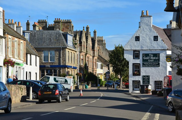 High Street and Golf Hotel, Crail