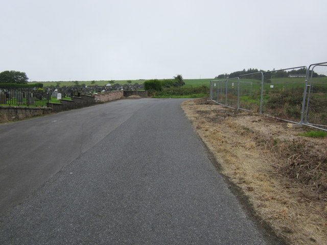 Road passing Glebe Cemetery, Stranraer