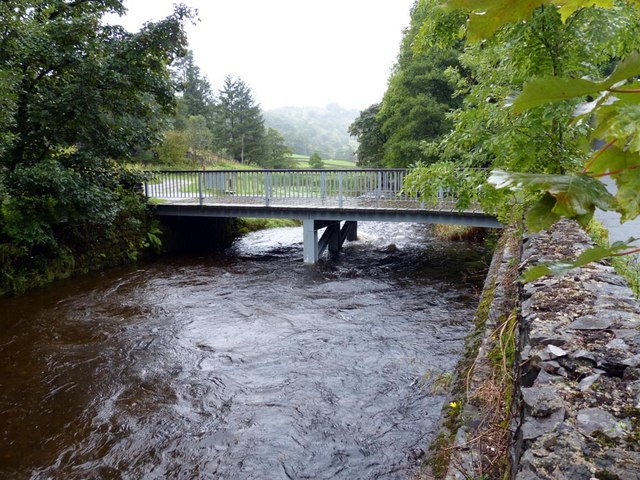 Bridge across the River Sprint leading to Beech Hill