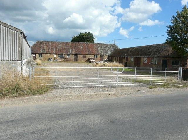 The outbuildings of Flete Farm