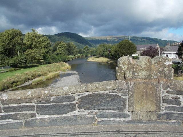 Llanrwst: downstream from Pont Fawr