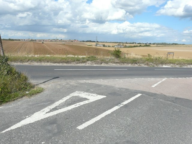 The junction of Flete Road with Manston Road