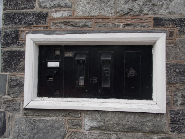 Betws-y-coed: disused stamp vending machine