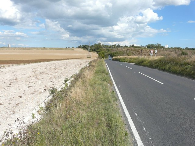 Looking along Manston Road towards Chapel Bottom