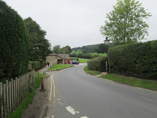 Road leading from B6160 - passing Post Office & Village Hall