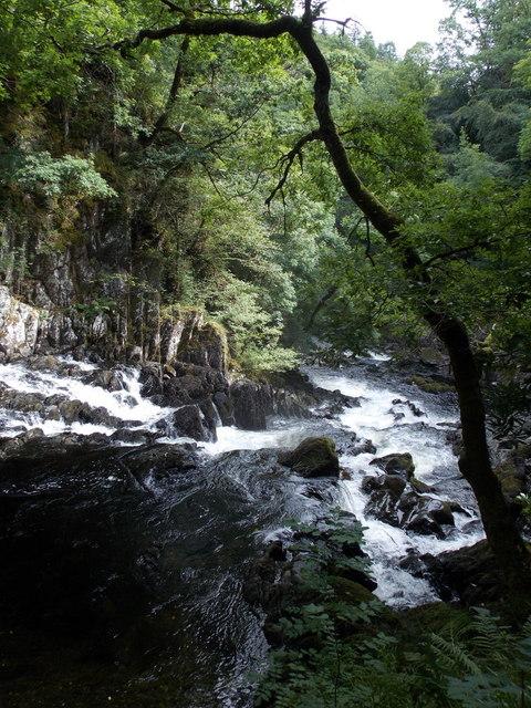 Betws-y-coed: below Swallow Falls