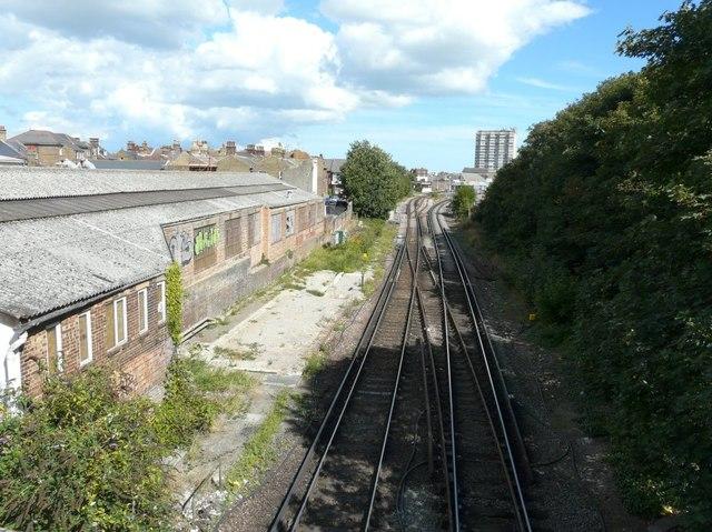 View from Hartsdown Road bridge
