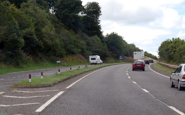 Lay by on the A30, south of Okehampton
