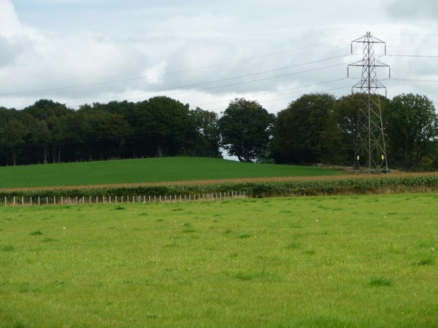 Power lines north of Llan