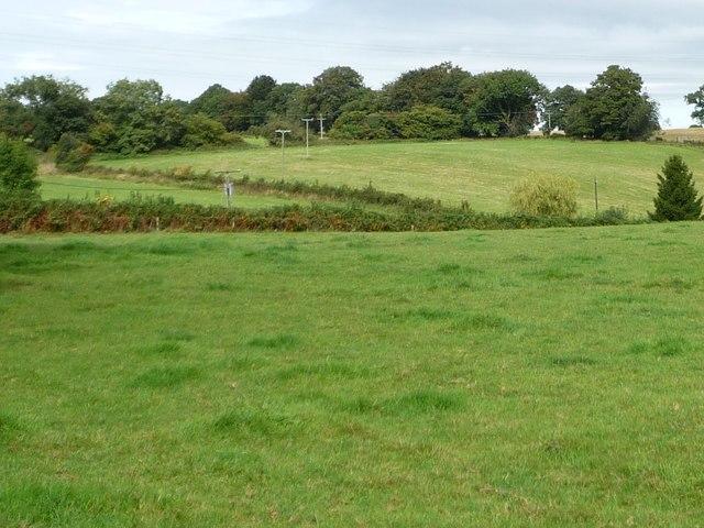 Farmland east of Yew Tree Farm