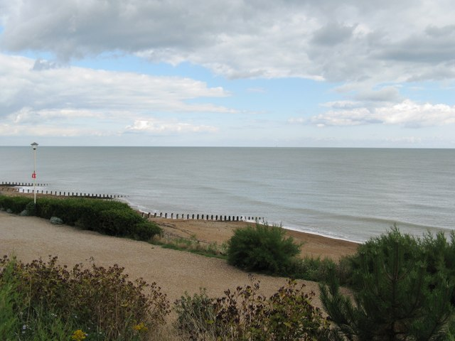 Looking east over Eastbourne beach