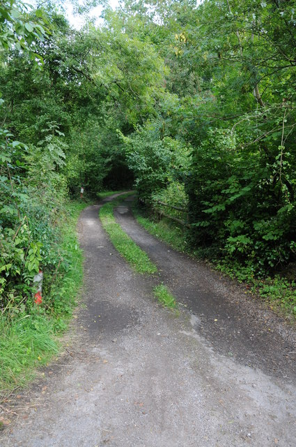 Track and footpath off the A466