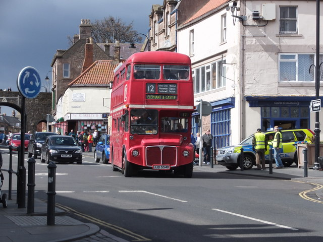 Routemaster bus on a day out