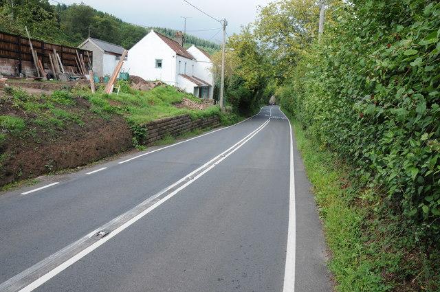 The A466 passing through Buckholt
