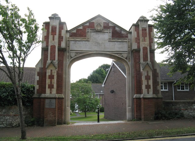 Memorial gateway to the former St Cyprian's School