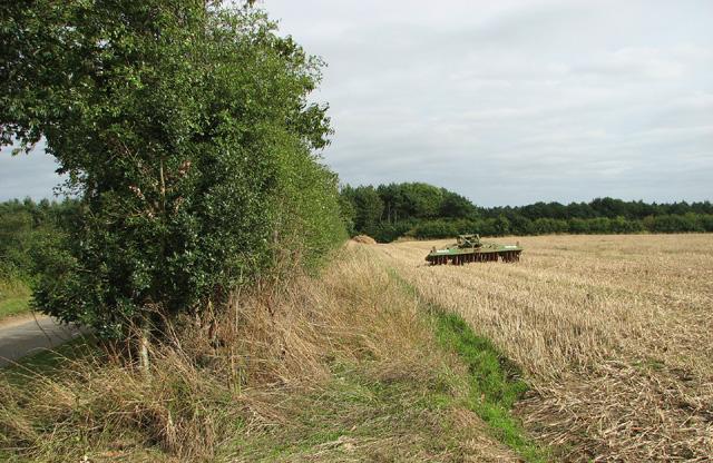 Stubble field south of Hole Farm