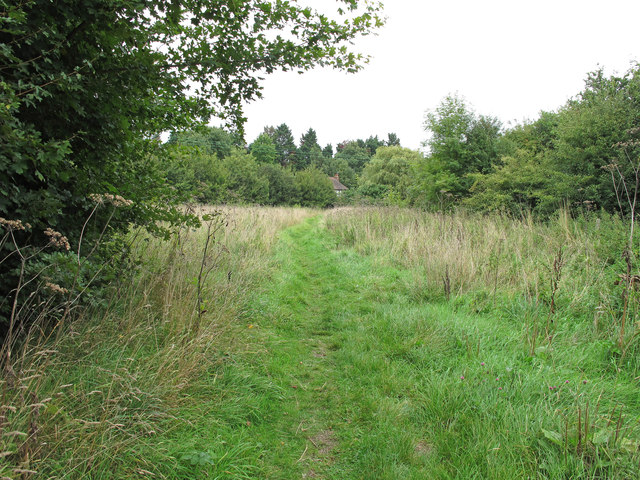 Path through Crowsheath Community Woodland, Downham