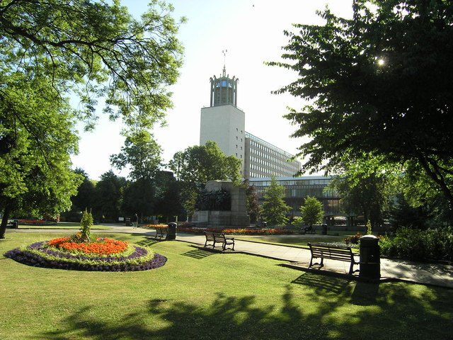 Civic Centre and gardens, Newcastle upon Tyne