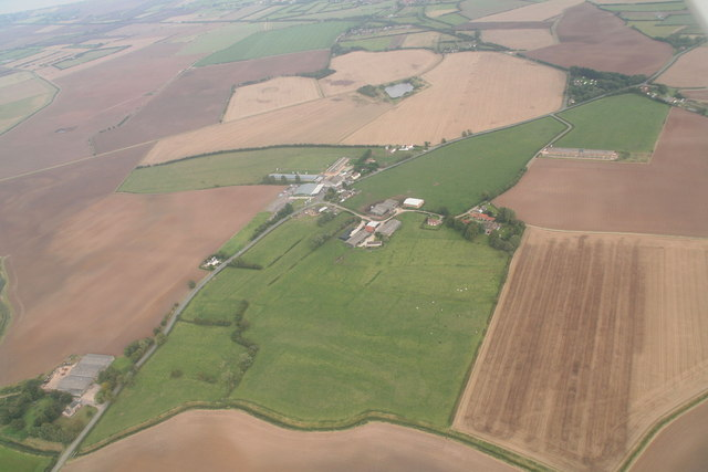 Thurlby, Grove Farm: aerial
