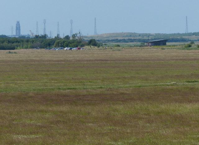 View across RSPB Frampton Marsh reserve