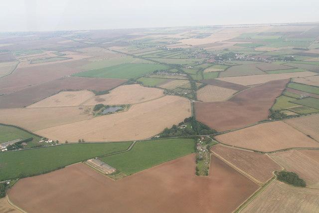 Disused railway trackbed, Thurlby: aerial
