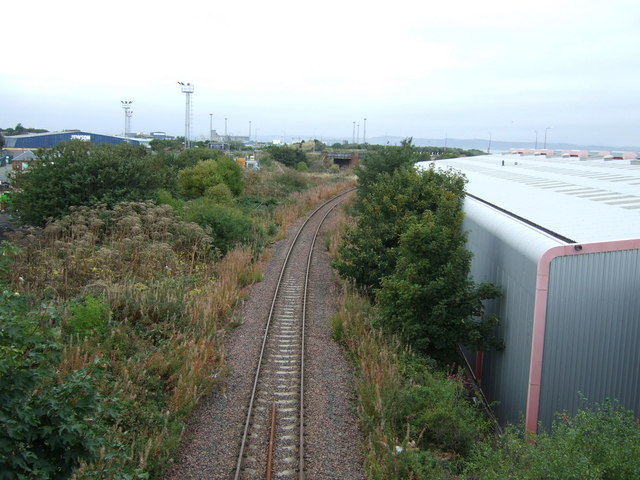 Railway line heading north