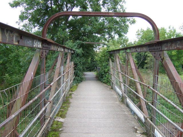 Footbridge over the River Esk