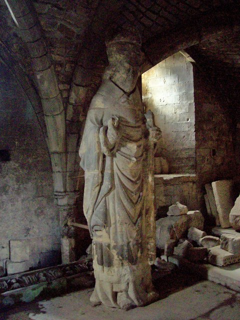 Winchester Cathedral, Crypt Statue