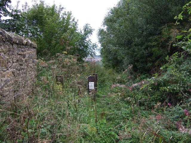 Path near Falside Castle
