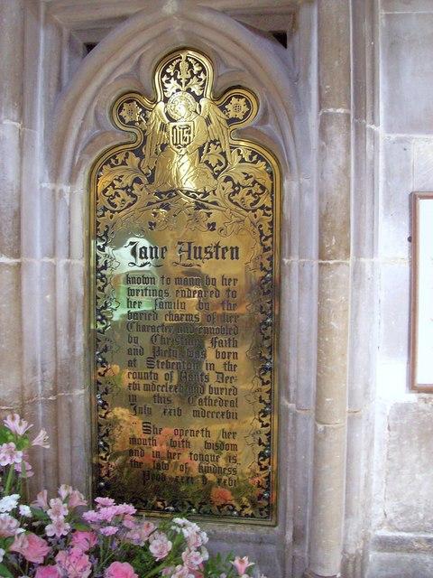 Jane Austen Plaque, Winchester Cathedral