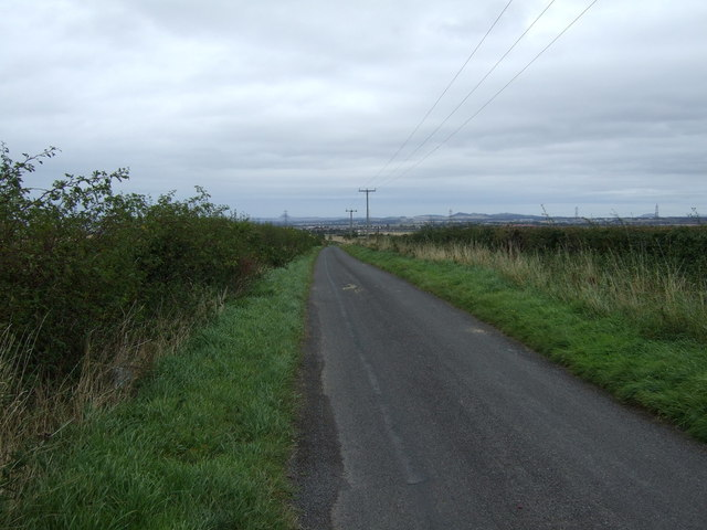 Country road towards Tranent