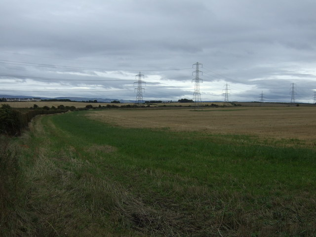 Farmland and power lines